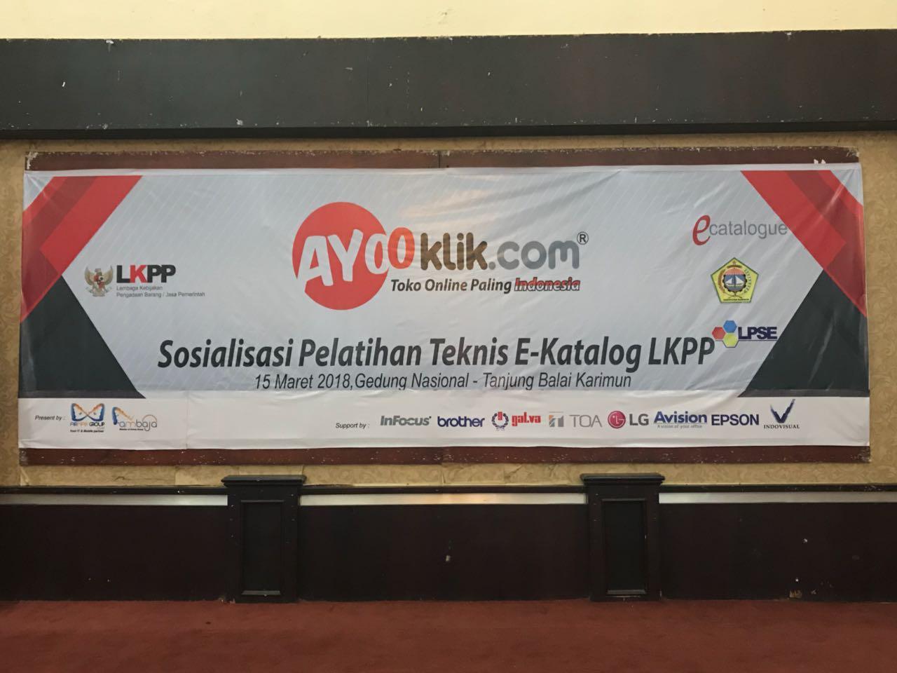 Sosialisasi e-katalog LKPP Tanjung Balai Karimun